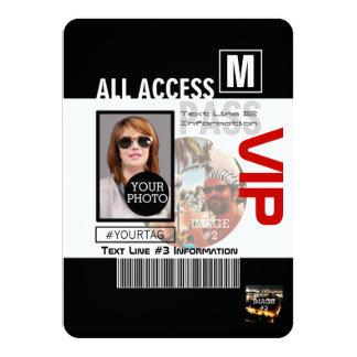 Faites à votre propre passage de VIP 8 manières de Carton D'invitation 11,43 Cm X 15,87 Cm