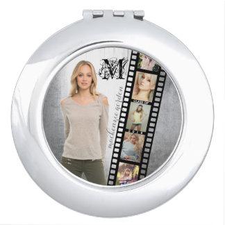 Faites à votre propre portrait supérieur le rétro miroir de voyage