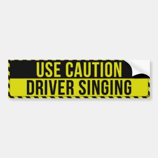 Faites attention, adhésif pour pare-chocs chanteur autocollant de voiture