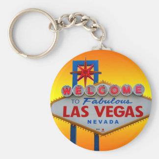 Faites bon accueil à Las Vegas au porte - clé Porte-clé Rond