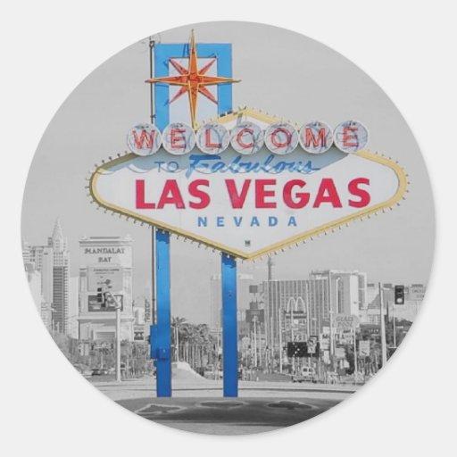 Faites bon accueil à Las Vegas fabuleux à l'autoco Adhésifs Ronds