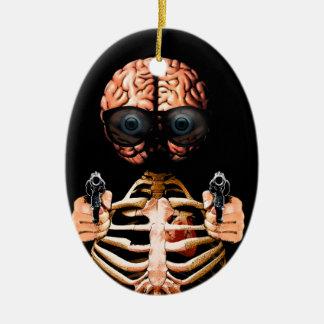 Faites ce que votre cerveau indique ornement ovale en céramique