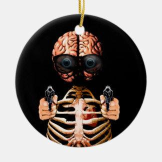 Faites ce que votre cerveau indique ornement rond en céramique