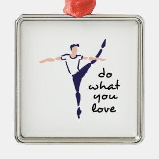 Faites ce que vous aimez ornement carré argenté