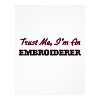 Faites confiance que je je suis un Embroiderer Tract Customisé