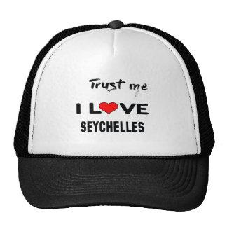 Faites- confiancemoi amour Seychelles d'I Casquette