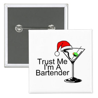 Faites- confiancemoi Im un barman Martini Badges