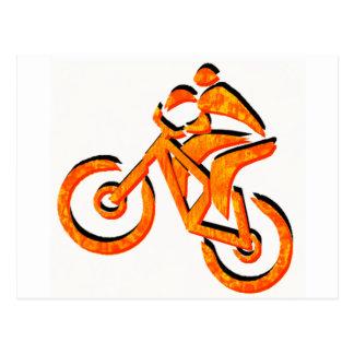 Faites du vélo tous les climats carte postale