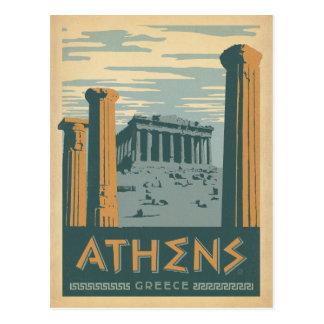 Faites gagner la date | Athènes, Grèce Carte Postale