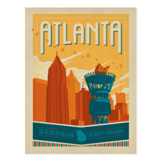 Faites gagner la date | Atlanta, GA - est. 1845 Cartes Postales