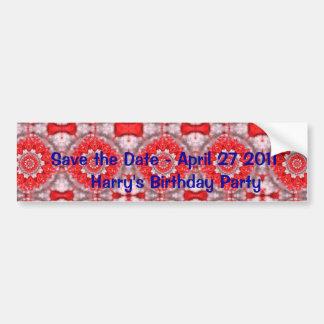 Faites gagner la date avec le motif rouge autocollant pour voiture