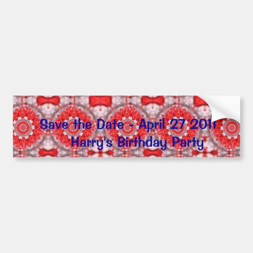 Faites gagner la date avec le motif rouge adhésifs pour voiture