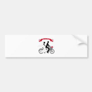 Faites gagner la date bicyclette de tandem de fai adhésifs pour voiture