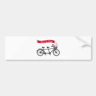 Faites gagner la date, bicyclette de tandem de fai adhésif pour voiture
