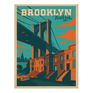 Faites gagner la date | Brooklyn, NY Carte Postale