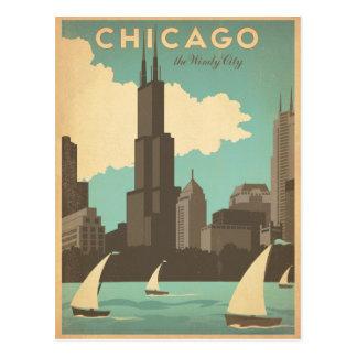 Faites gagner la date | Chicago, IL - ville Carte Postale