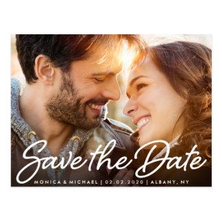 Faites gagner la date épousant la carte postale