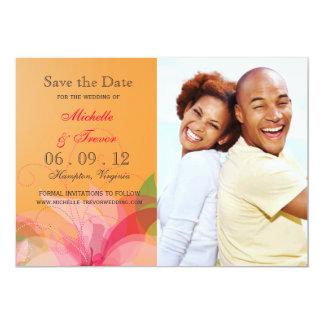 Faites gagner la date - invitations floraux