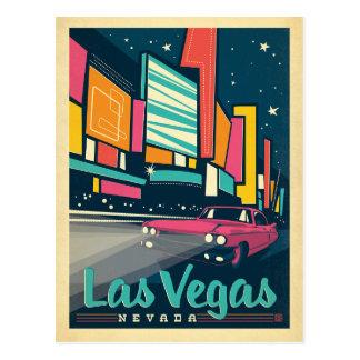 Faites gagner la date | Las Vegas, nanovolt Carte Postale