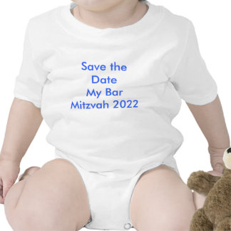 Faites gagner la date ma barre Mitzvah 2022 Body Pour Bébé
