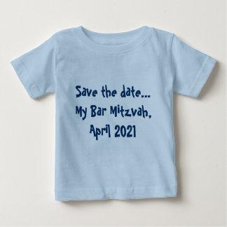 Faites gagner la date… Ma barre Mitzvah, avril T-shirt Pour Bébé