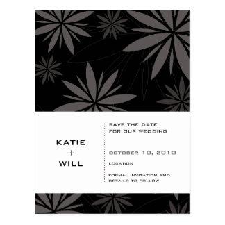 FAITES GAGNER LA DATE : : noir de vitalité Carte Postale