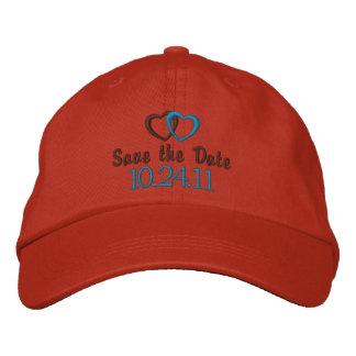 Faites gagner la date personnalisable casquette brodée
