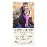 Faites gagner la date Photocards l'épousant blanc  Photocarte Personnalisée