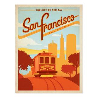 Faites gagner la date | San Francisco, ville de CA Carte Postale