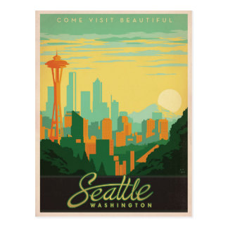Faites gagner la date | Seattle, WA Carte Postale