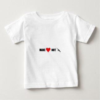 Faites la guerre d'amour pas t-shirt