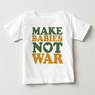 Faites la guerre de bébés pas t-shirt pour bébé