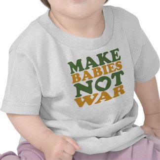 Faites la guerre de bébés pas t-shirt