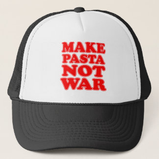 Faites la guerre de pâtes pas casquette