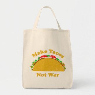 Faites la guerre de tacos pas sacs en toile