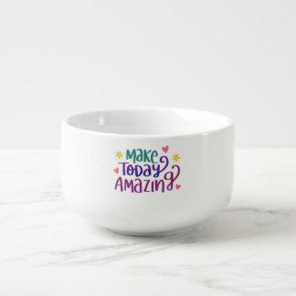 Faites la salutation inspirée aujourd'hui mug à potage