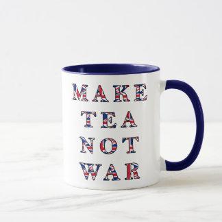 Faites la tasse de guerre de thé pas