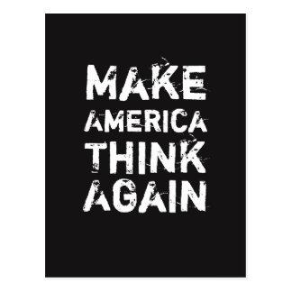 FAITES l'AMÉRIQUE PENSER ENCORE la carte postale