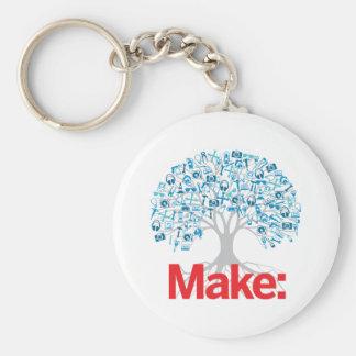 Faites l'arbre porte-clé rond