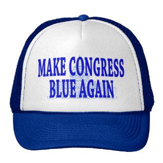 Faites le bleu du congrès encore couvrir casquette de camionneur