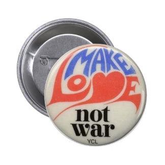 Faites le bouton de paix d'années '60 de guerre badge rond 5 cm