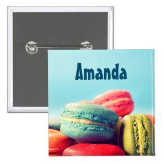Faites le bouton volontaire Macarons d'étiquette Badges