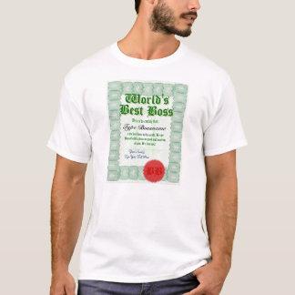 Faites le meilleur T-shirt du patron du monde
