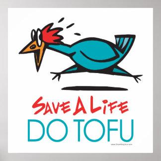 . Faites le végétarien de végétalien de tofu Poster