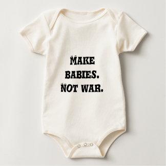 Faites les bébés.  Pas guerre Bodies Pour Bébé