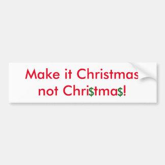 Faites-lui l'adhésif pour pare-chocs de Noël