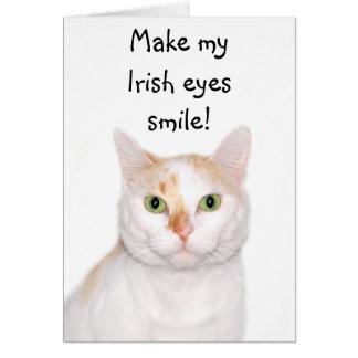 Faites mon sourire irlandais de yeux ! carte de vœux