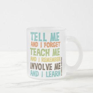 Faites- participermoi citation inspirée tasse givré