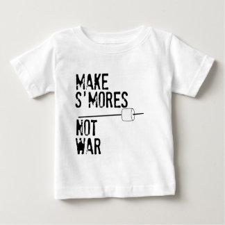 Faites S'mores, pas guerre T-shirt Pour Bébé