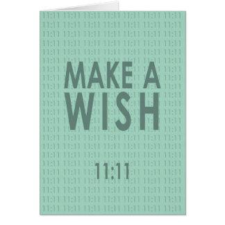 Faites un 11h11 de souhait carte de vœux